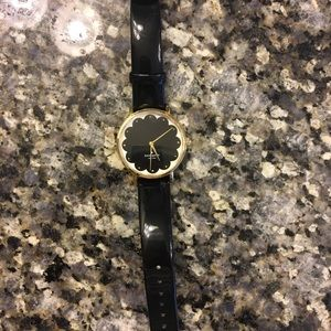 Kate Spade Patent Leather Scallop Watch